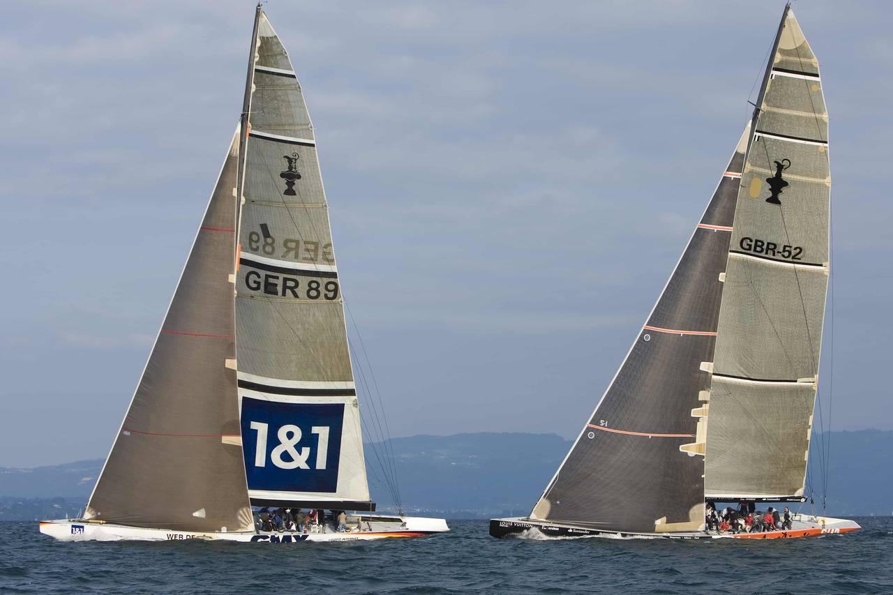 Segeln auf einem Boot vom Admiral's Cup